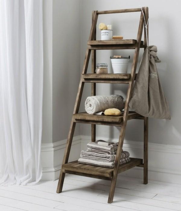 creative-design-ideas-wooden-ladder-as-a-towel-rail